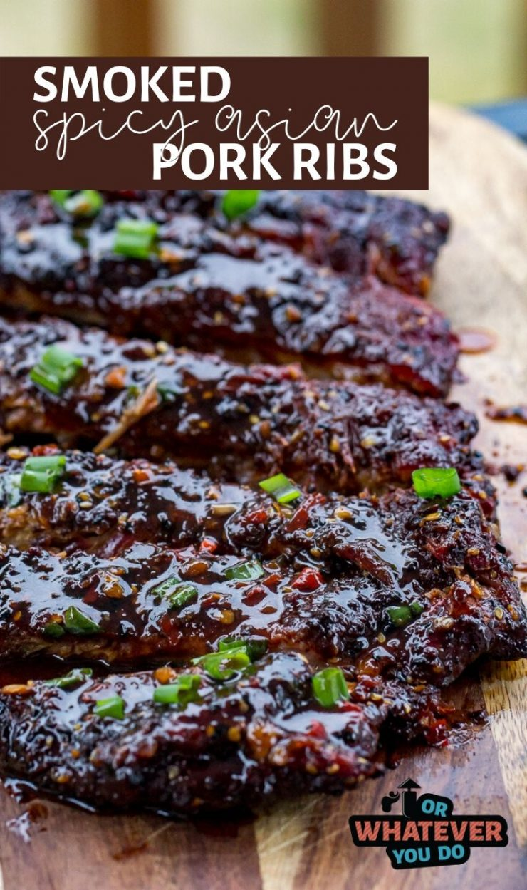 Smoked Spicy Asian Pork Ribs