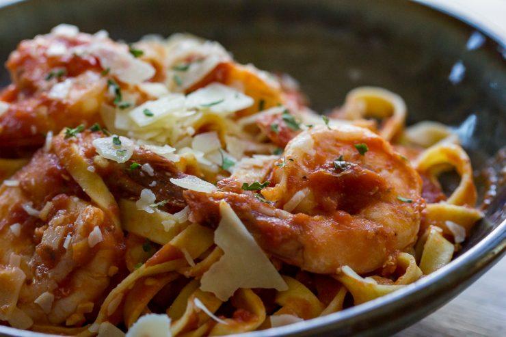 Shrimp Marinara close-up
