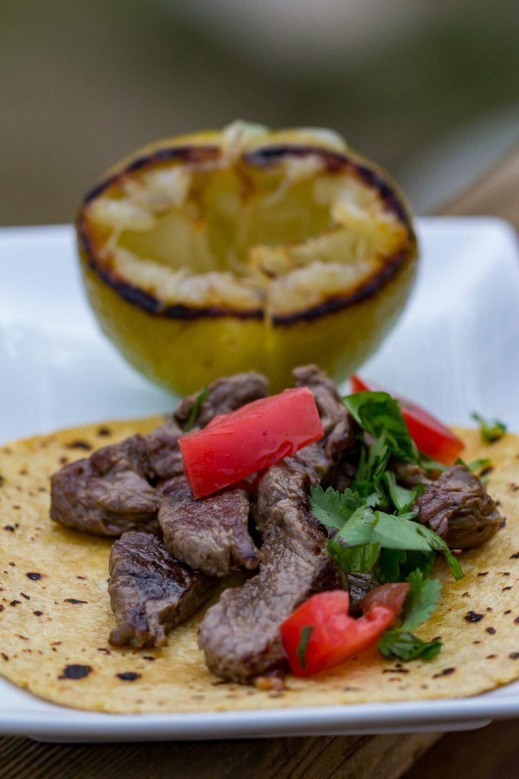 Gas Griddle Steak Tacos