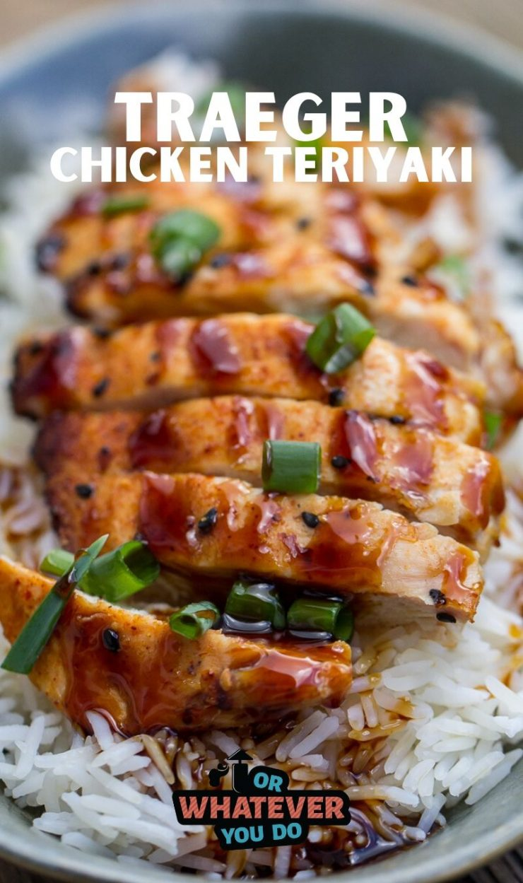 Traeger Chicken Teriyaki with text on the image