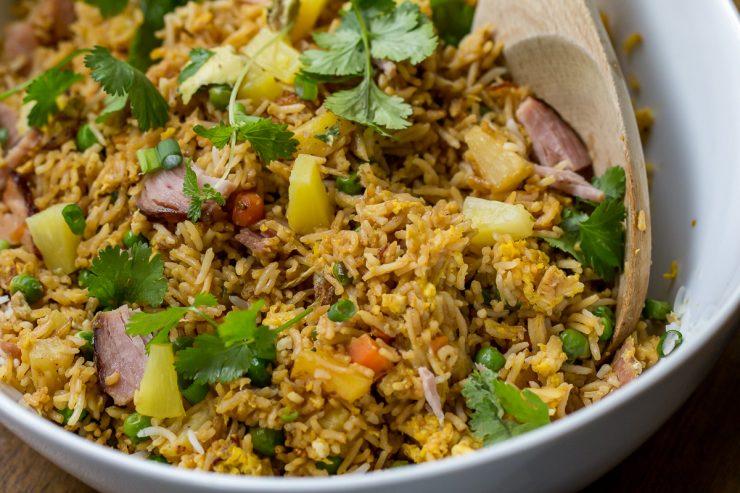 Blackstone Ham & Pineapple Fried Rice