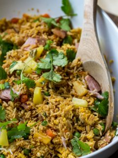 Blackstone Ham & Pineapple Fried Rice