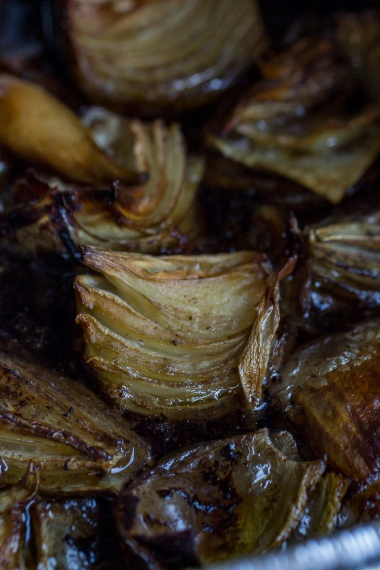 Traeger Pot Roast picture with onions