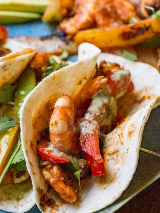 Blackstone Shrimp Fajitas