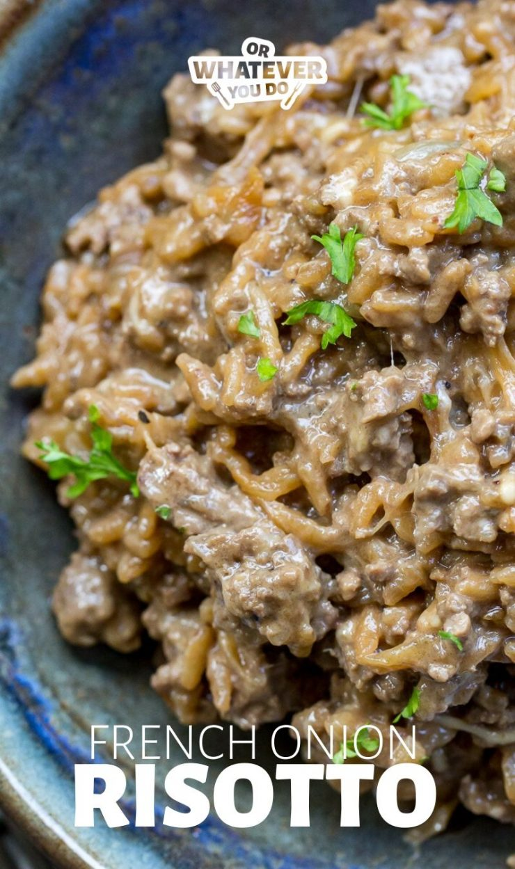 Easy French Onion Risotto