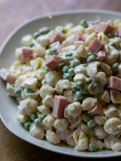 Ham and Pea Pasta Salad