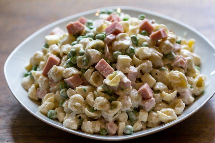 Ham and Pea Pasta Salad-13