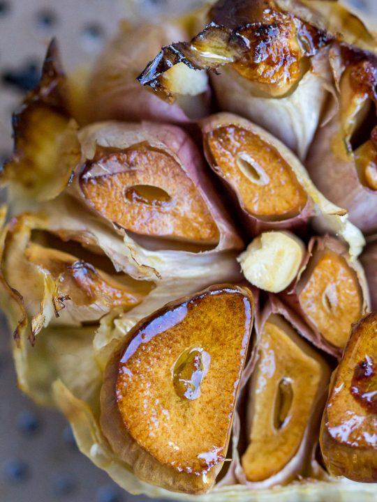 Traeger Smoked Garlic