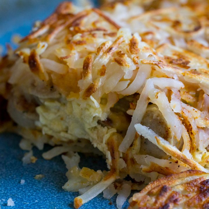 Sausage and Egg Loaded Hash Browns