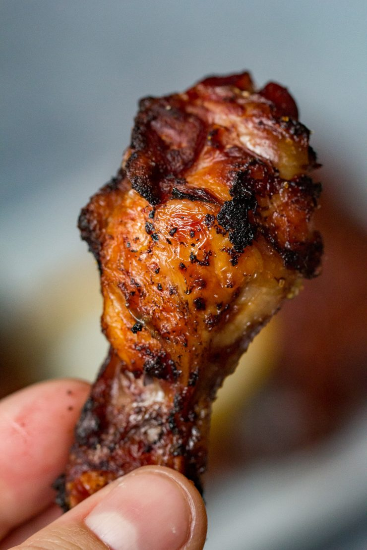 Smoked and Fried Mango Chipotle Chicken Wings
