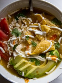 Smoked Chicken Tortilla Soup