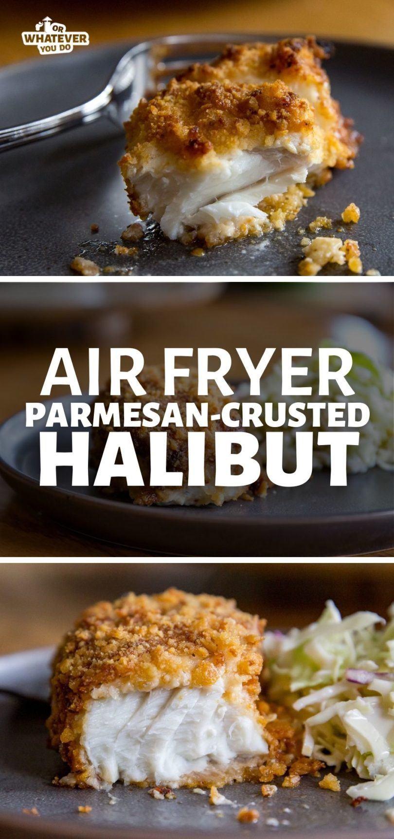Air Fryer Parmesan Crusted Halibut