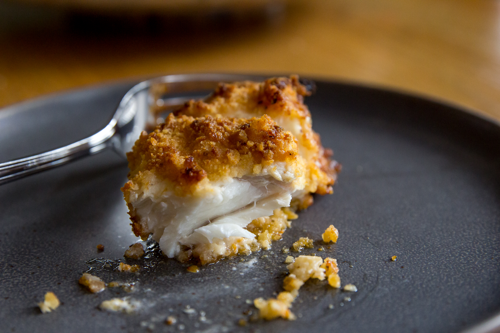 Air Fryer Parmesan-Crusted Halibut