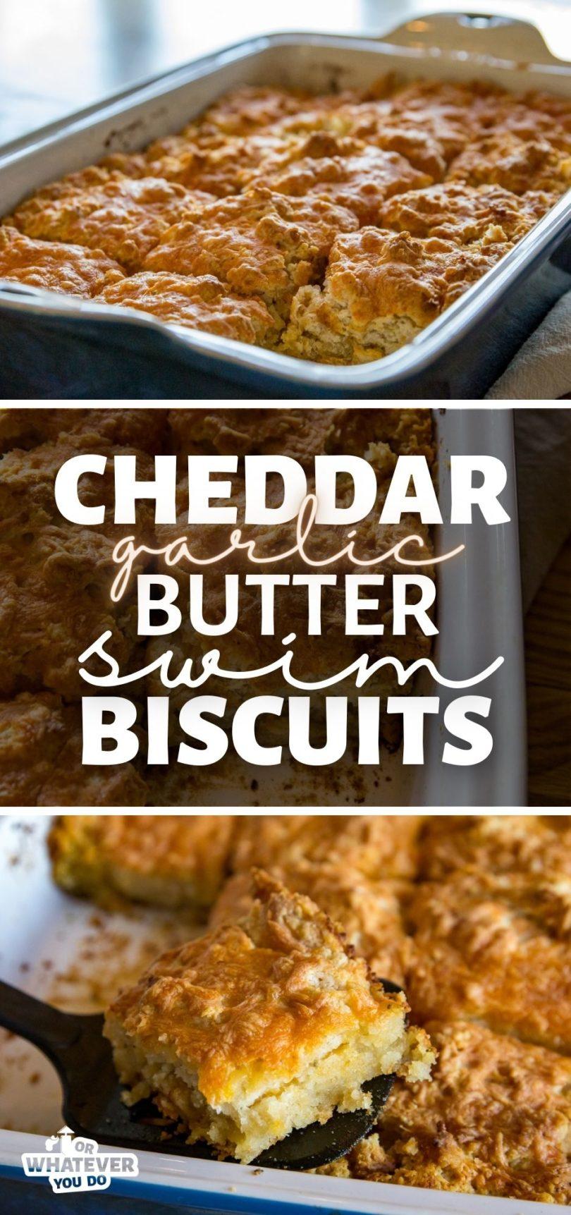 Pellet Grill Cheddar Garlic Butter Swim Biscuits