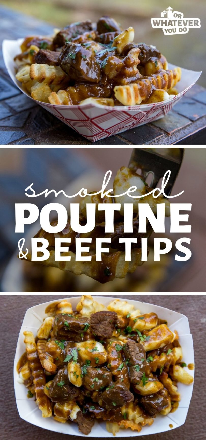 Smoked Poutine and Beef Tips