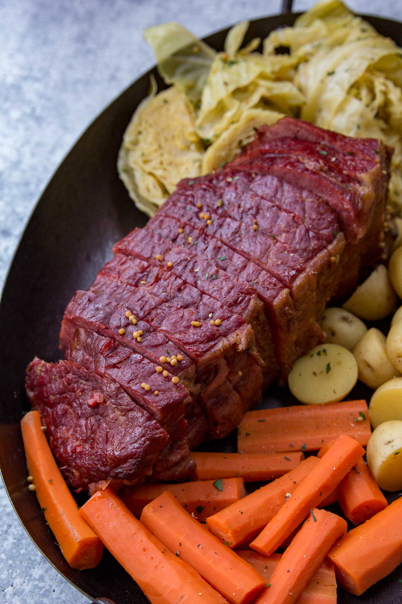Traeger Smoked Corned Beef and Cabbage