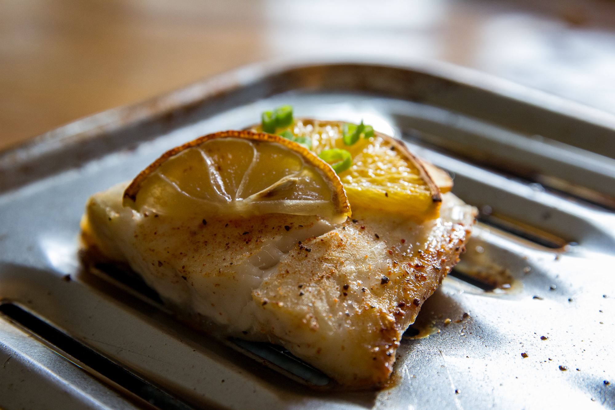 Broiled Ling Cod with Lemon