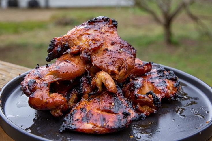 Spicy Grilled Teriyaki Chicken Thighs