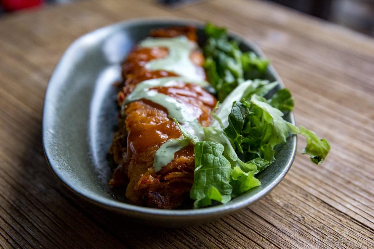 Smoked Shredded Beef Enchiladas