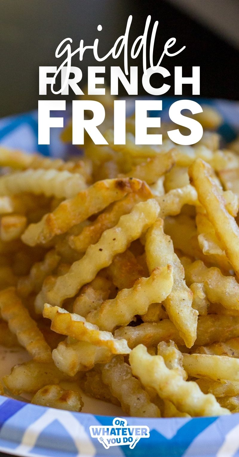 Blackstone French Fries on a paper plate