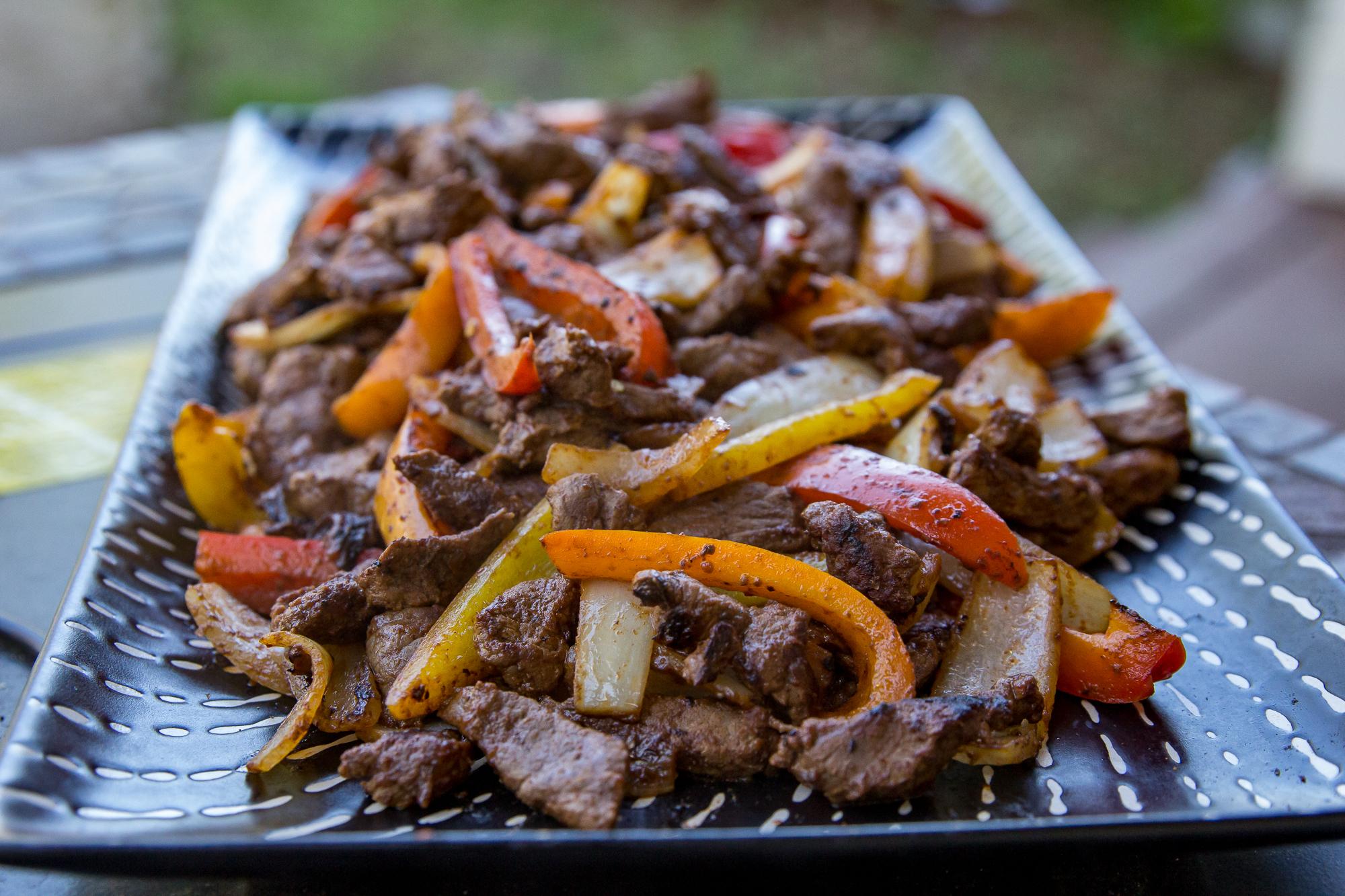 Blackstone Steak Fajitas