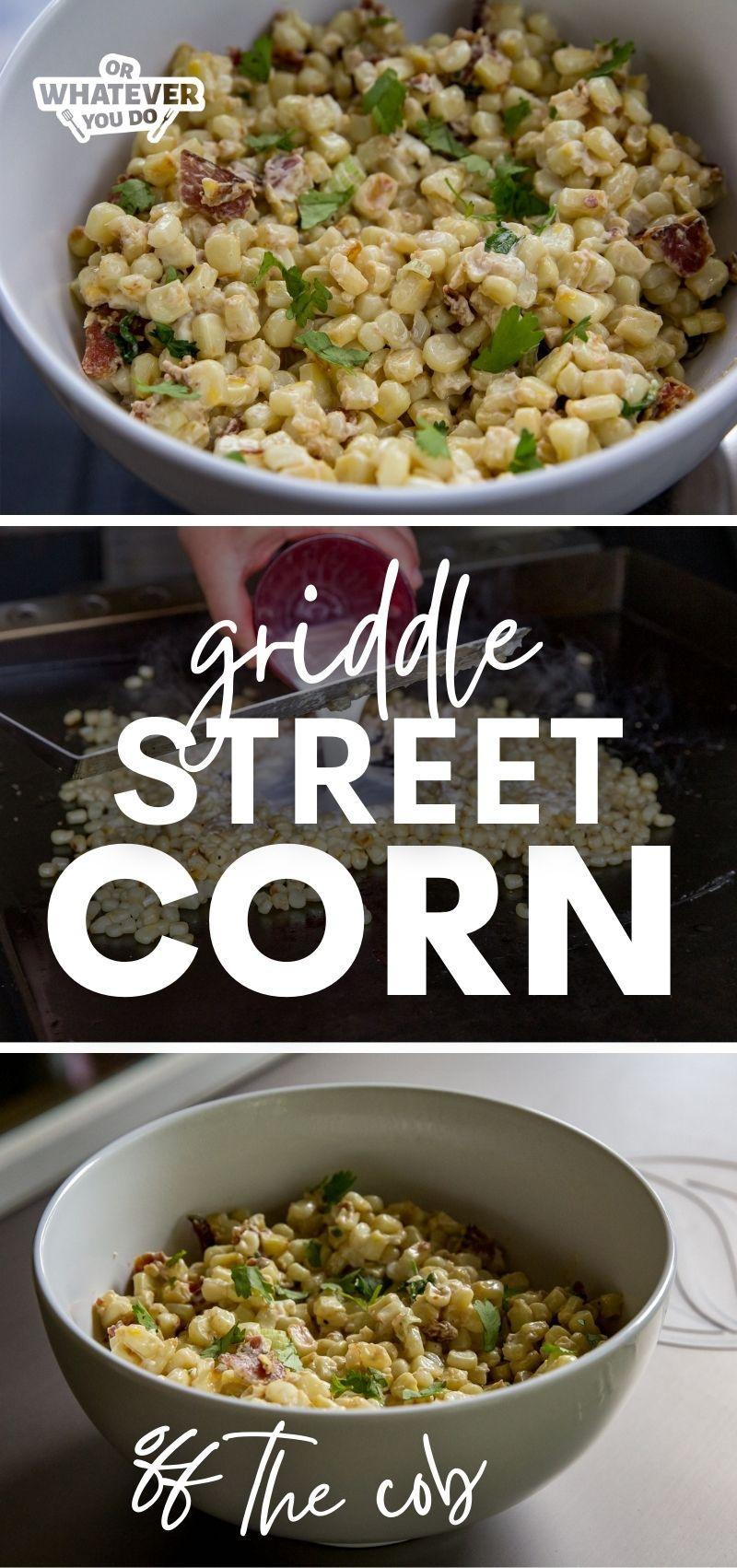 Griddle Street Corn Off the Cob