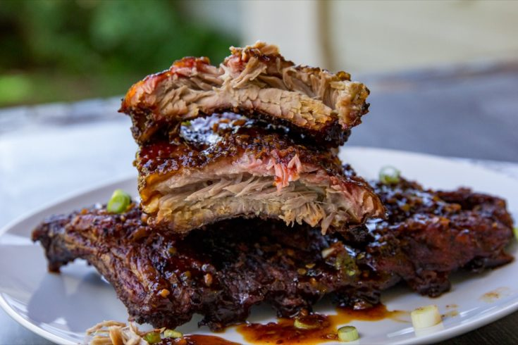 Spicy Smoked Pork Ribs