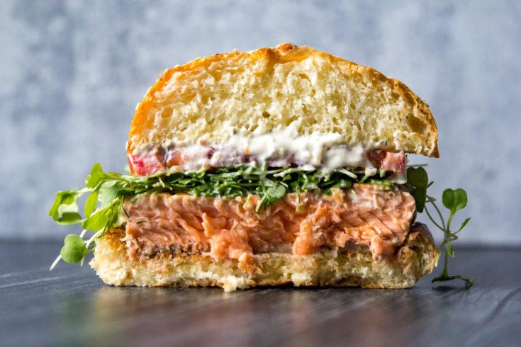 Blackstone Salmon Sandwich