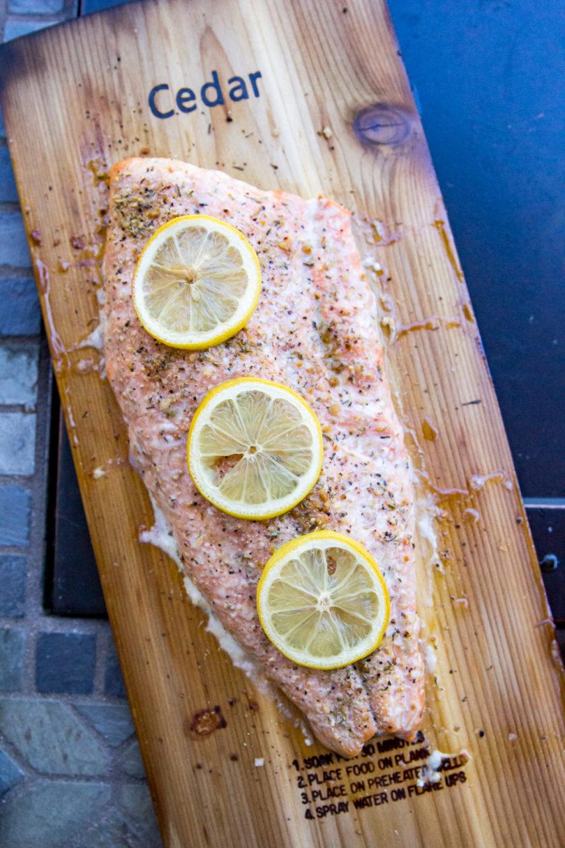 Traeger Grilled Cedar Plank Salmon
